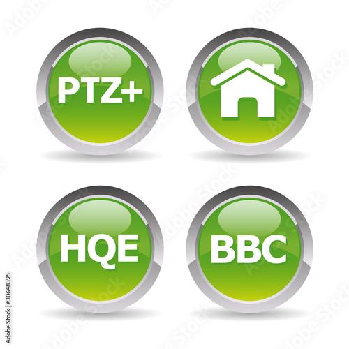 Pictos maison bbc hqe ptz fichier vectoriel libre de for Droit au ptz