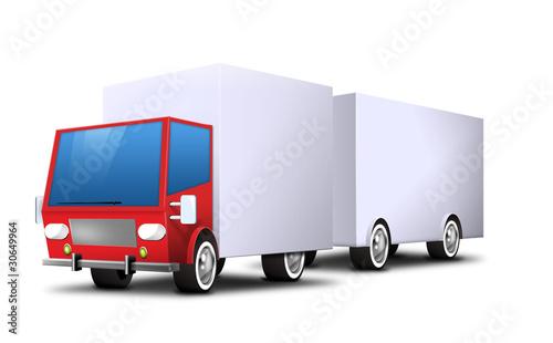 auto truck lkw mit h nger anh nger lieferung spedition stockfotos und lizenzfreie bilder auf. Black Bedroom Furniture Sets. Home Design Ideas