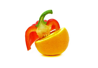 orange and red peppers