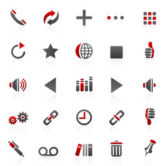 red internet  icons - set 14