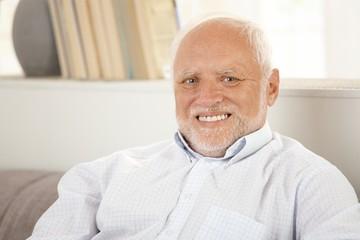 Portrait of happy older man