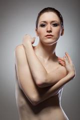 Portrait of beautiful naked woman