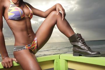 Image of a woman's body in a bikini