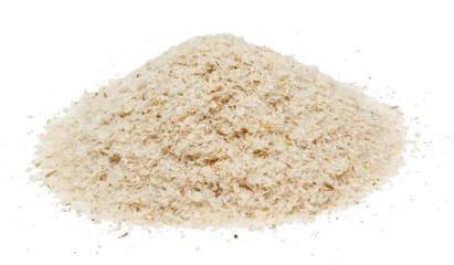 Psyllium isolated on white