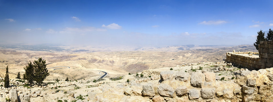 View from Mount Nebo, place of Moses grave, to the valley. Panor