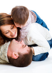 Dad, mom and toddler