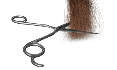 frisörschere schneidet haare