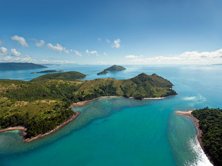 Printed kitchen splashbacks Australia Aerial view of the Whitsunday Islands