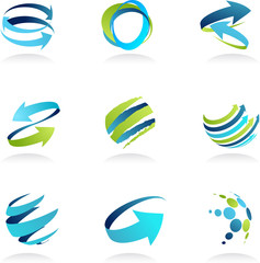 Business abstract icons