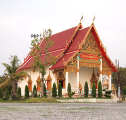 A Wat or Buddhist Temple in Bangkok , Thailand