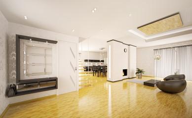 Flur und Wohnzimmer interior