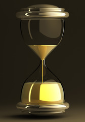 closeup of hourglass isolated
