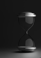 closeup of hourglass isolated background 3d render