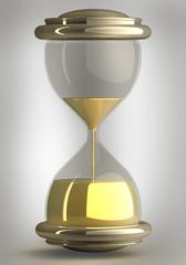 closeup of hourglass in warm