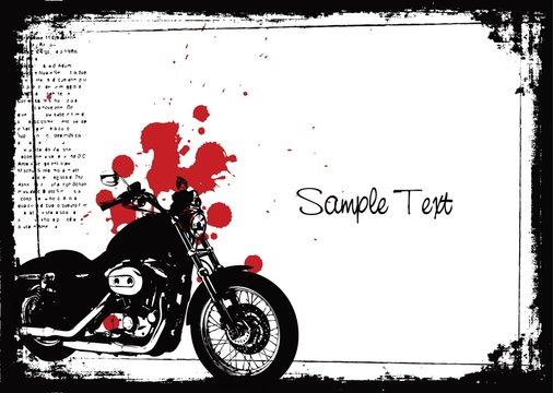 grunge motorcycle poster