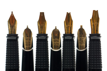 A collection of Calligraphy pen nibs