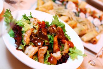 Fresh salad on banquet table