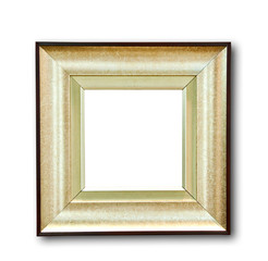 The Blank of wood frame isolated on white background