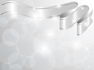 Silver ribbon card