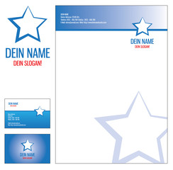 CI Corporate Identity Briefbogen Briefpapier Visitenkarte Stern