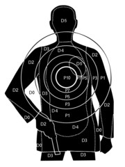 The professional target for shooting