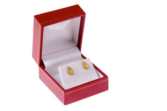 boite de bijoux boucle d'oreille
