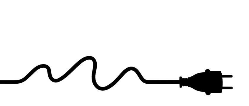 Power plug - water energy silhouette