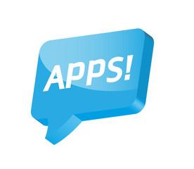 Apps Sprechblase Werbung