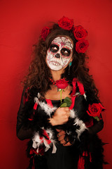 Woman Dressed For All Souls Day