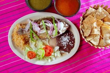 mojarra garlic mojo tilapia fish Mexico chili sauce