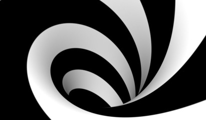 Abstract black and white spiral