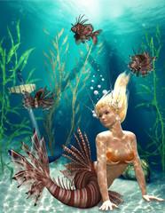Fotobehang Zeemeermin mermaid 3