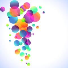 Rainbow Bubbles Background for Elegant Flyers