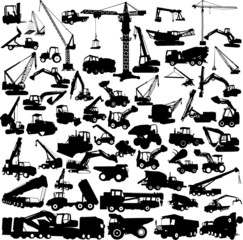 construction machine big collection vector
