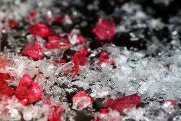 Snow plastics & rubys