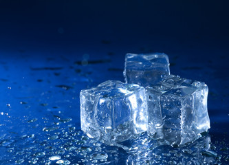 iced water over wet background