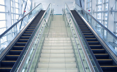 Photo sur Plexiglas Escalier The escalator