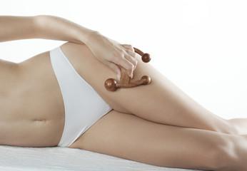 entretien galbe drainage de jambes de femme