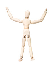 Drawing doll with arms raised
