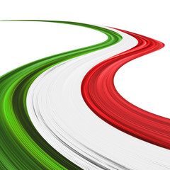 Photo Blinds Draw Italia Tricolore Onda Astratta-Italy Flag Abstract Wave