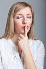 Woman shh