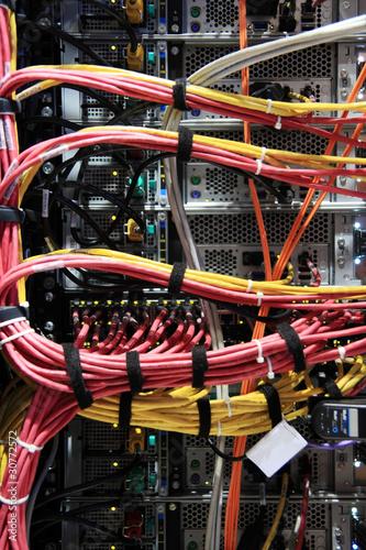 Serverschrank Rückseite & Kabel, hochkant\
