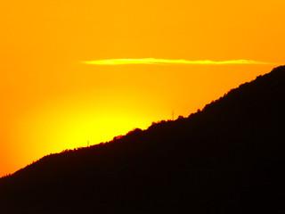Закат солнца на море  Абхазия