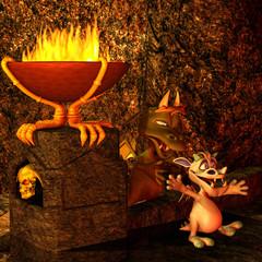 Papiers peints Dragons in der drachenhöhle