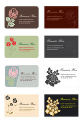 business cards flowers