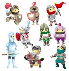Spoed Foto op Canvas Ridders cartoon Knight icon