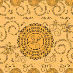 Paisley seamless pattern background