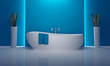 Bathroom minimal atmospheric blue