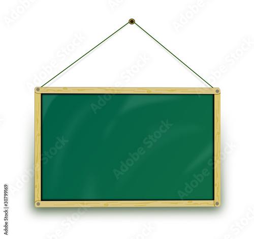 Schultafel mit schwamm leer  Tafel grün leer