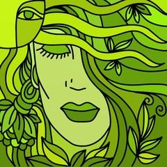 Spoed Foto op Canvas Klassieke abstractie viso verde